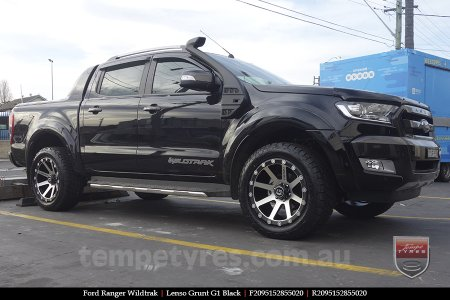 20x9.5 Lenso Grunt G1 Black on FORD RANGER WILDTRAK