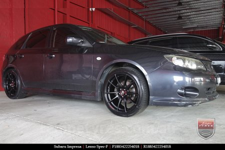 18x8.5 Lenso Spec F MB on SUBARU IMPREZA
