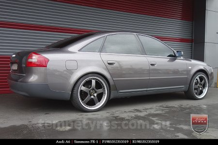 19x8.5 19x9.5 Simmons FR-1 Hyper Dark on AUDI A6
