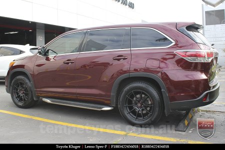 18x8.5 Lenso Spec F MB on TOYOTA KLUGER