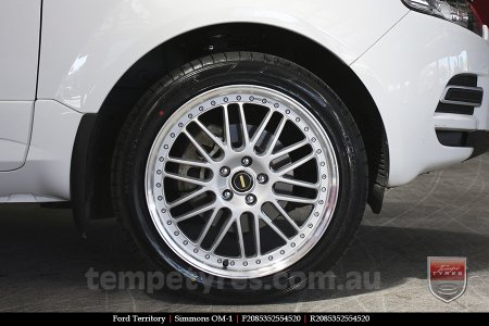 20x8.5 20x9.5 Simmons OM-1 Silver on FORD TERRITORY