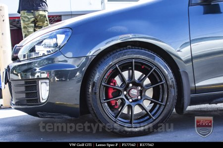 17x7.5 Lenso Spec F MB on VW GOLF