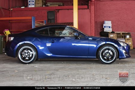 18x8.5 18x9.5 Simmons FR-1 Gloss Black on TOYOTA 86