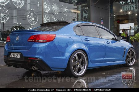 20x8.5 20x9.5 Simmons FR-1 Hyper Dark on HOLDEN COMMODORE