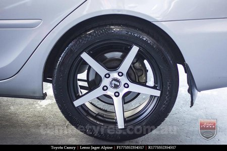 17x7.5 Lenso Jager Alpine MBFW on TOYOTA CAMRY