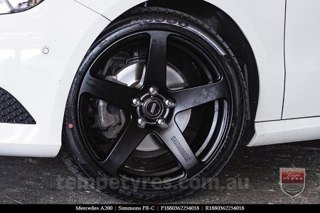 18x8.0 18x9.0 Simmons FR-C Matte Black NCT on MERCEDES A200