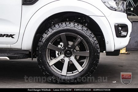 20x9.5 Lenso RTG HDW on FORD RANGER WILDTRAK