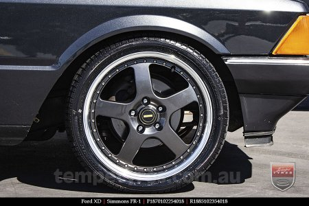 18x7.0 18x8.5 Simmons FR-1 Hyper Dark on FORD XD