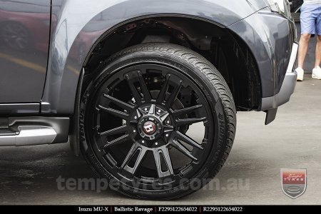 22x9.5 Ballistic Ravage Flat Black on ISUZU MU-X