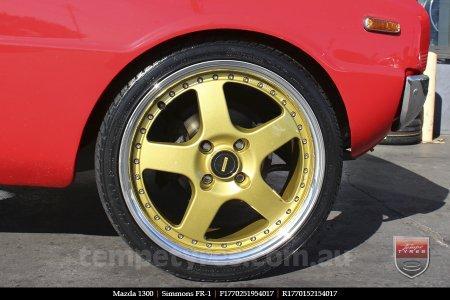 17x7.0 17x8.5 Simmons FR-1 Gold on MAZDA 1300