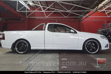 20x8.5 20x9.5 Simmons FR-1 Gloss Black on FORD FALCON FG
