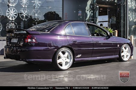 20x8.5 20x9.5 Simmons FR-1 White on HOLDEN COMMODORE