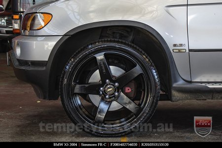 20x8.5 20x10 Simmons FR-C Full Satin Black on BMW X5