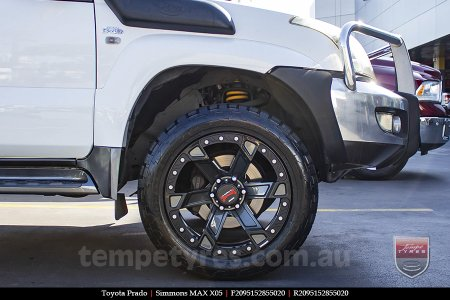 20x9.5 Simmons MAX X05 DCFOY on TOYOTA PRADO