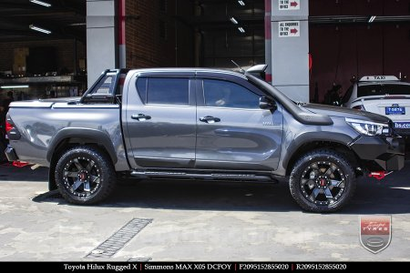 20x9.5 Simmons MAX X05 DCFOY on TOYOTA HILUX RUGGED X