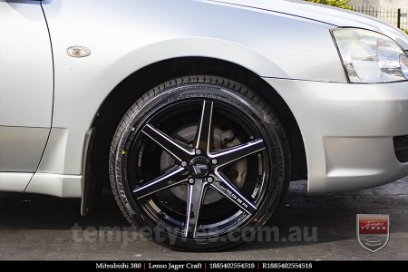 18x8.5 Lenso Jager Craft BKWA on MITSUBISHI 380