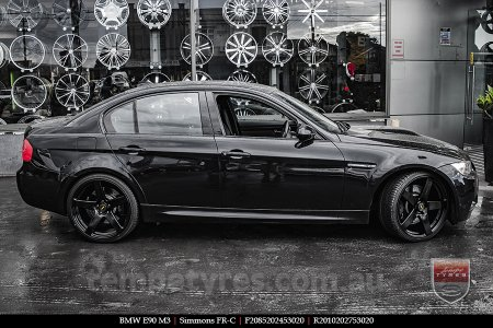 20x8.5 20x10 Simmons FR-C Full Satin Black on BMW E90
