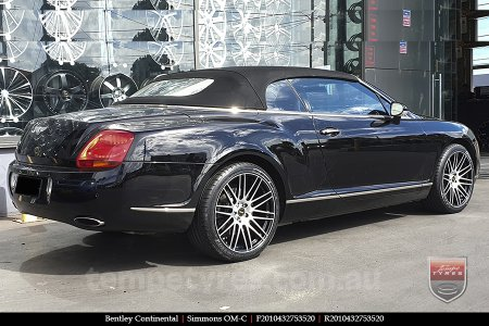 20x8.5 20x10 Simmons OM-C BM on BENTLEY CONTINENTAL