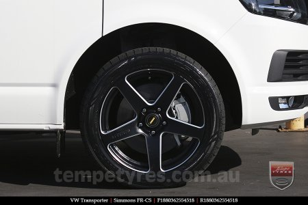 18x8.0 18x9.0 Simmons FR-CS Matte Black NCT on VW TRANSPORTER