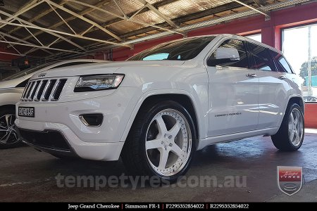 22x8.5 22x9.5 Simmons FR-1 White on JEEP GRAND CHEROKEE