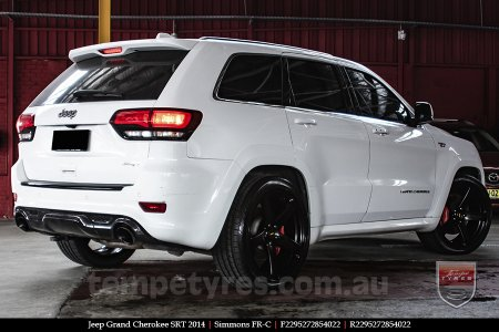 22x9.5 Simmons FR-C Full Satin Black on JEEP GRAND CHEROKEE
