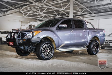 20x9.0 Simmons MAX X12 OBDFW on MAZDA BT50