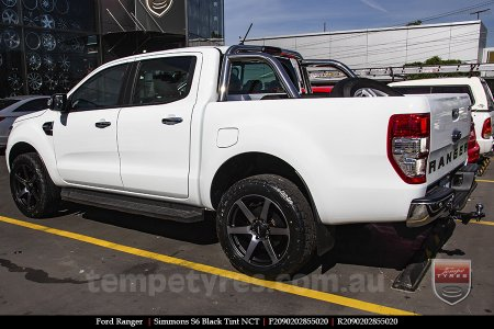 20x9.0 Simmons S6 Black Tint on FORD RANGER