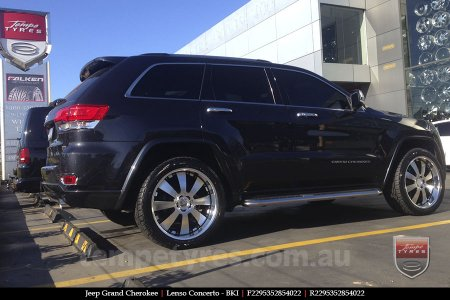 22x9.5 Lenso Concerto - BKI on JEEP GRAND CHEROKEE