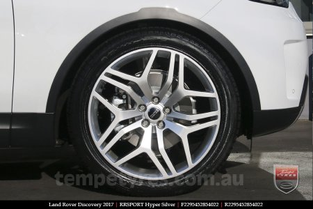 22x9.5 RRSPORT Hyper Silver on LAND ROVER DISCOVERY