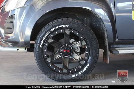 20x9.5 Simmons MAX X05 DCFOY on ISUZU D-MAX