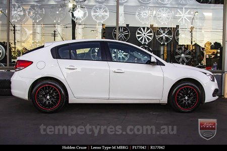 17x7.0 Lenso Type-M - MBRG on HOLDEN CRUZE