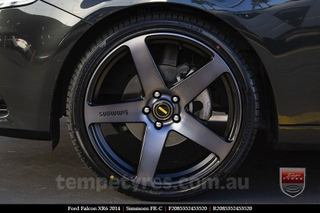 20x8.5 20x10 Simmons FR-C Black Tint NCT on FORD FALCON