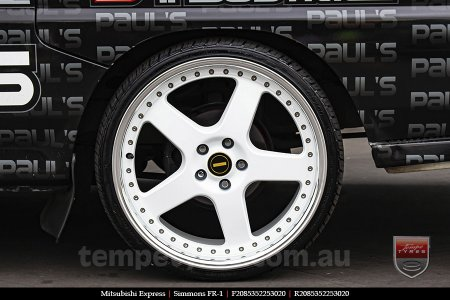 20x8.5 20x9.5 Simmons FR-1 White on MITSUBISHI EXPRESS