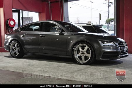 20x8.5 20x9.5 Simmons FR-1 Silver on AUDI A7