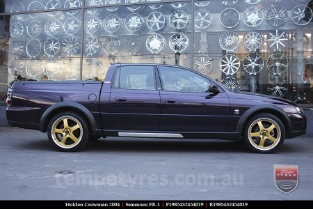 19x8.5 19x9.5 Simmons FR-1 Gold on HOLDEN CREWMAN