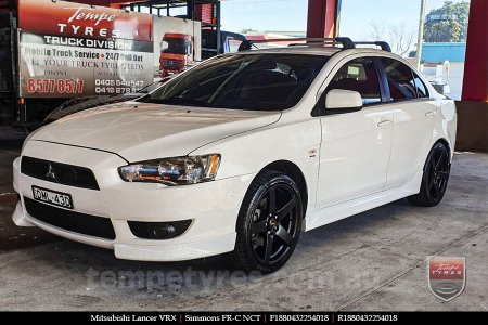 18x8.0 18x9.0 Simmons FR-C Matte Black NCT on MITSUBISHI LANCER