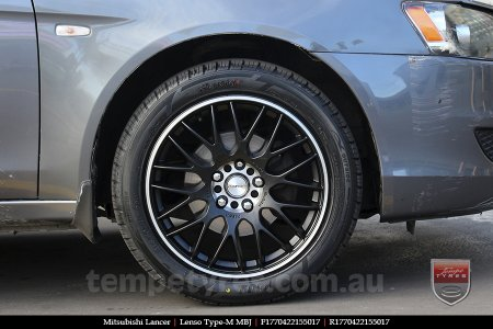 17x7.0 Lenso Type-M - MBJ on MITSUBISHI LANCER