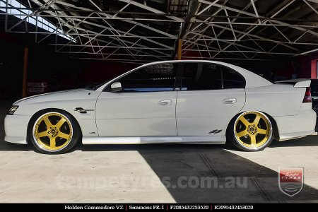20x8.5 20x9.5 Simmons FR-1 Gold on HOLDEN COMMODORE VZ