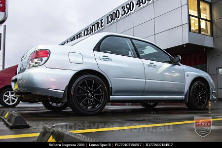 17x7.0 Lenso Spec B MB on SUBARU IMPREZA