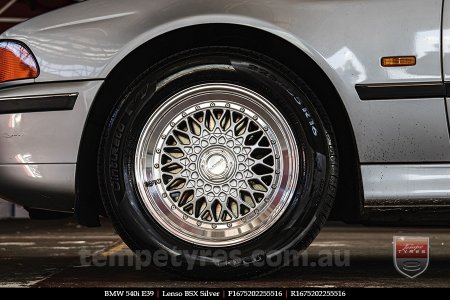 16x7.5 Lenso BSX Silver on BMW 540i