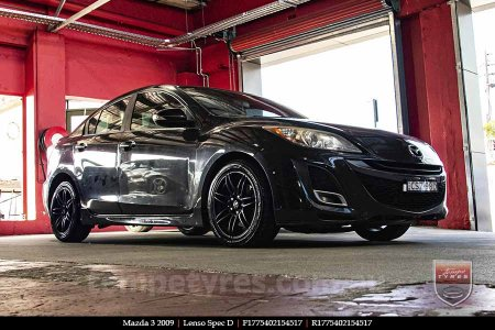 17x7.5 Lenso Spec D MB on MAZDA 3