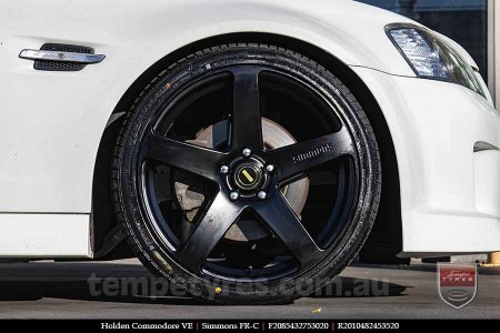 20x8.5 20x10 Simmons FR-C Satin Black NCT on HOLDEN COMMODORE VE