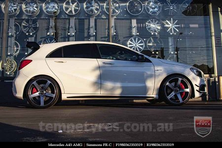 19x8.0 19x9.0 Simmons FR-C Black Tint NCT on MERCEDES A45 AMG
