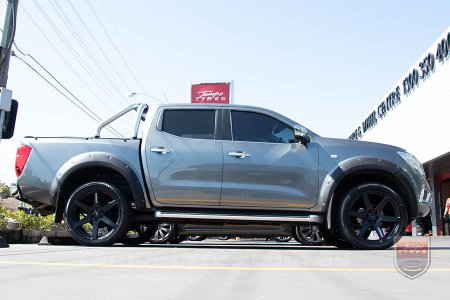 22x9.5 Simmons S6 Matte Black on NISSAN NAVARA NP300