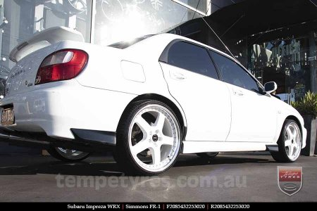20x8.5 20x9.5 Simmons FR-1 White on SUBARU IMPREZA WRX