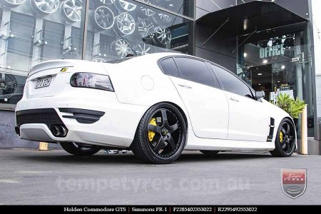 22x8.5 22x9.5 Simmons FR-1 Full Satin Black on HOLDEN COMMODORE
