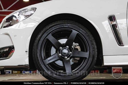 18x8.0 18x9.0 Simmons FR-C Matte Black NCT on HOLDEN COMMODORE VF
