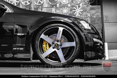 20x8.5 20x10 Simmons FR-C Black Tint NCT on HOLDEN COMMODORE VE GTS