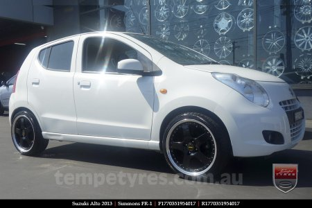 17x7.0 17x8.5 Simmons FR-1 Gloss Black on SUZUKI ALTO