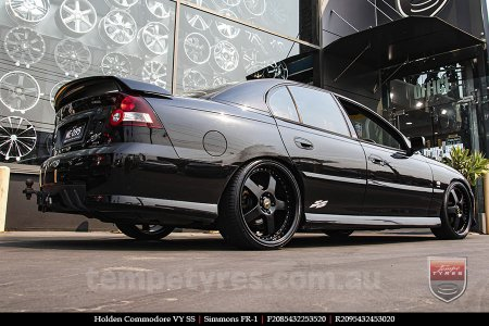 20x8.5 20x9.5 Simmons FR-1 Satin Black on HOLDEN COMMODORE VY